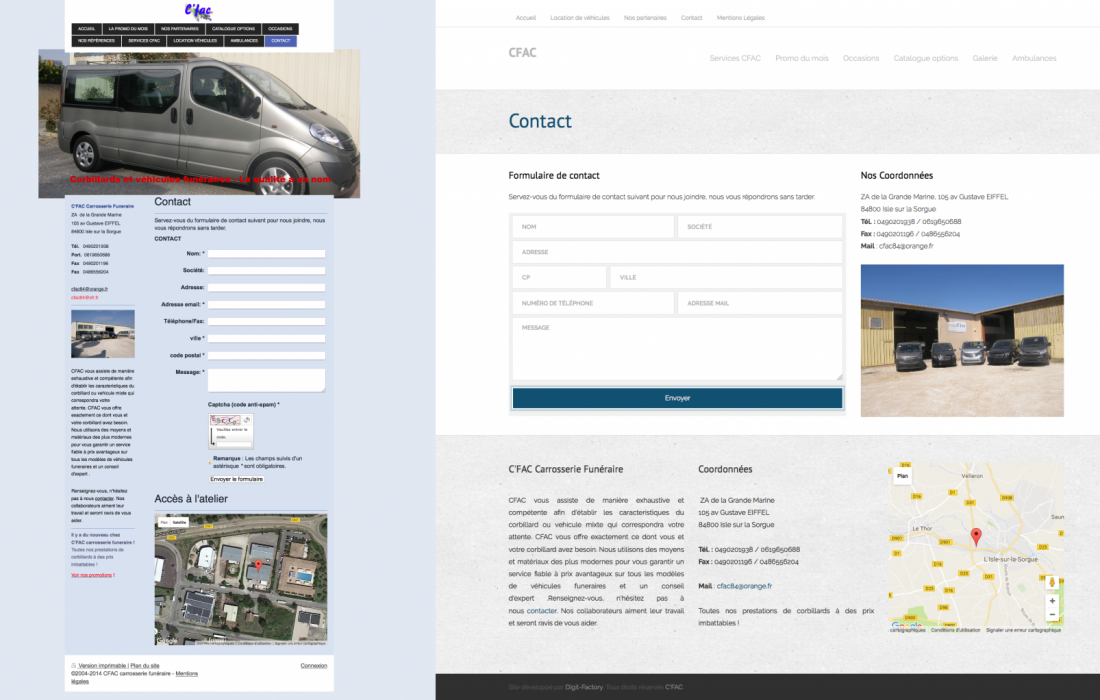 refonte graphique site internet CFAC